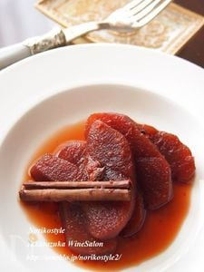 りんごの赤ワインスパイス煮