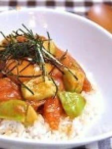 サーモンアボカドユッケ丼