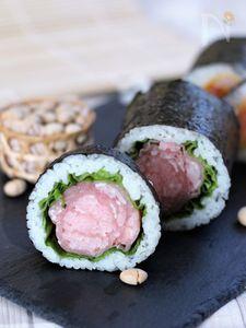生ハムの恵方巻き【飾り巻き寿司】