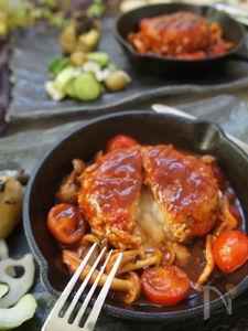 ジューシーお好み焼き風ハーフカロリー高野豆腐入りハンバーグ