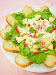 りんごとなし・クリームチーズのサラダ