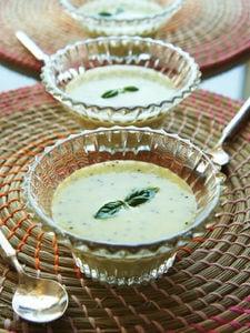 キウイレモンのフローズンヨーグルトスープ