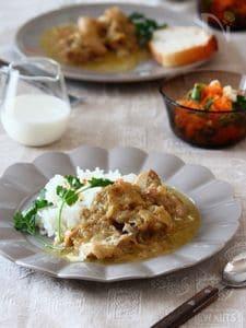 チキンとたっぷり玉ねぎの煮込み。
