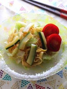 ズッキーニと春雨の中華風サラダ