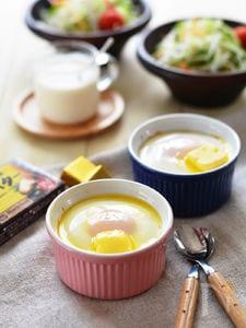 燻製バターのせマッシュエッグココット