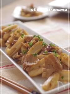 蓮根と豚ばら肉のバルサミコ炒め
