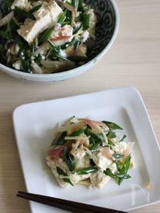 冷や奴具材を簡単アレンジ!豆腐サラダ