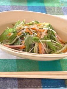 水菜入り中華サラダ