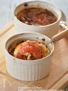 卵1つ♪丸ごとトマトのキッシュ―プ