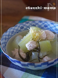 冬瓜と鶏ひき肉の葛煮