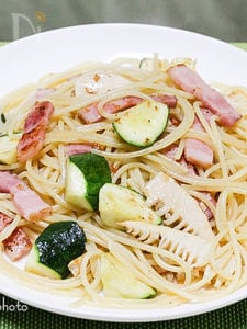 ズッキーニと筍のパスタ