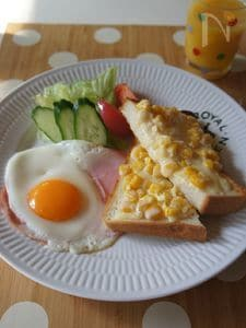 朝食から元気に!コーンマヨパン