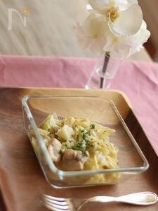 鶏とキャベツのコーン煮込み