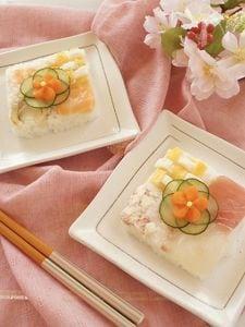 桃の節句に♡チェック押し寿司