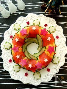 キラキラ星がいっぱいリース型のお寿司
