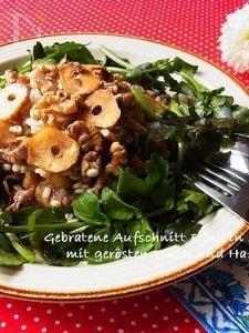 牛肉とクレソンのサラダ カリカリ胡桃と押麦のドレッシング