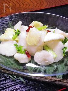 塩と麹がポイント ◆大根の鉈(なた)割り漬け◆