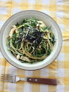和えて簡単♪水菜の和風パスタ