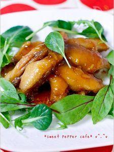 鶏ミニスティックのマーマレード煮。