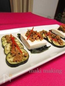 麻婆豆腐と麻婆茄子