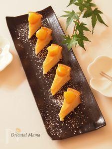 柚子香る酒粕ヨーグルトdeベイクドケーキ