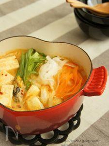 しゃきしゃき野菜のちげ鍋♪お餅入り