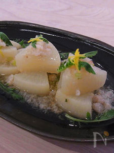三浦大根の蟹あんかけ 柚子の香り