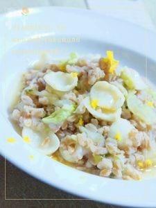白菜と百合根のスペルト小麦リゾットゆずの香り