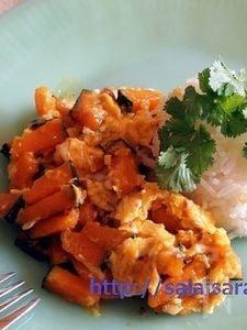 ファクトーン・パット・カイ(かぼちゃと卵の炒め物)