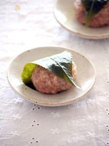 ごはんで作る♪関西風つぶつぶ桜餅
