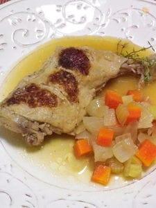◆鶏もも肉のシードル煮◆塩麹で下漬け