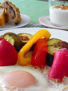 焼き野菜のモーニングプレート