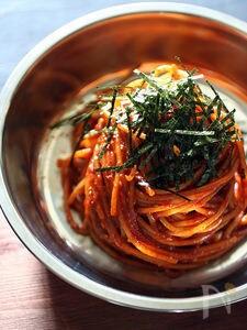辛口!ビビン麺風スパゲッティ