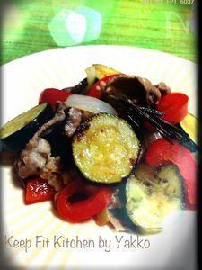 夏野菜でパワーチャージ!豚肉と夏野菜の欧風炒め