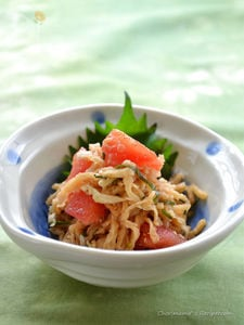 切り干し大根のトマト黒酢サラダ