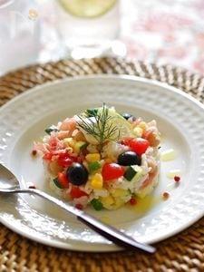 カラフル夏野菜のライスサラダ
