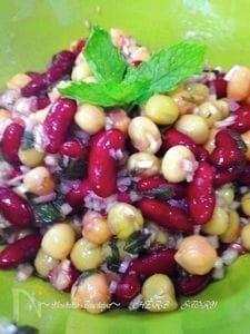 お豆とスペアミントのメキシカンマリネ
