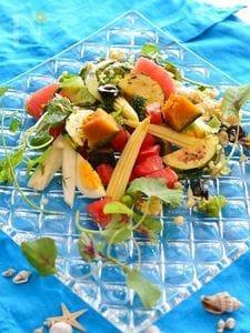 夏の美白対策~ごろごろグリル野菜サラダ