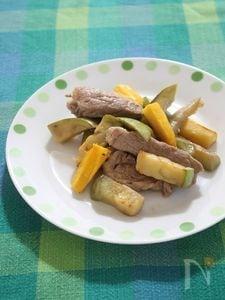 豚肉と青なすのレモンつゆ炒め
