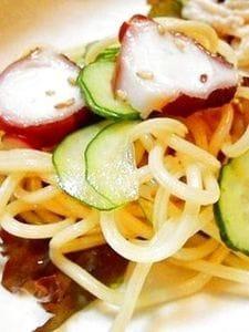 塩と唐辛子の胡麻油ペぺロンチーノ