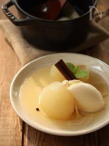 大人な和梨のコンポート