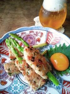 佐賀県産アスパラでつくる鶏つくね