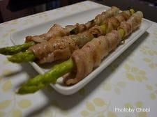 豚バラ薄切り肉とシソのアスパラ巻き
