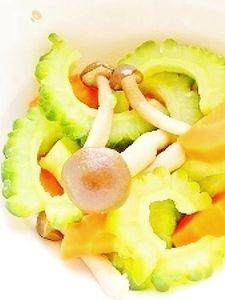 しめじと夏野菜のさっぱりサラダ