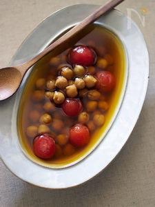 ヒヨコ豆のサフランスープ