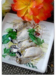 牡蠣のさっぱりレモンオリーブオイルかけ