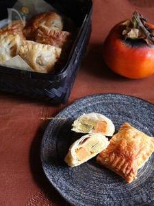 さつまいもと柿のクリチメープルパイ