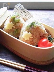 ツナレタスワイン醤油風味のおにぎり〜お弁当〜
