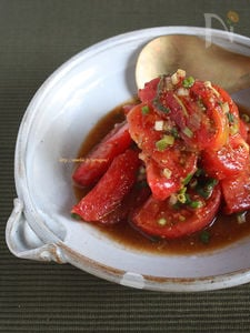 ジューシートマトのネギだくサラダ
