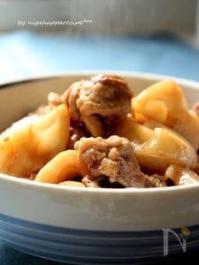 フライパンで簡単*豚肉とレンコンの炒り煮